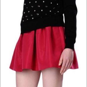 RED VALENTINO Faille mini skirt, fuchsia